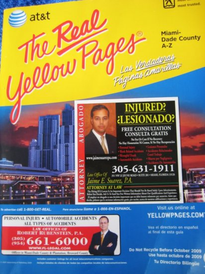 Phone Book THE REAL WHITE PAGES Miami-Dade FL 2005/2006