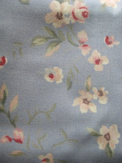 R Lauren TWIN FLAT Sheet SHELTER ISLAND Blue Floral NIP