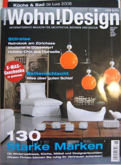 WOHN! DESIGN Magazine *Architecture GERMAN Nov/Dez 2008