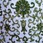 Ralph Lauren PORCELAIN ROSETTE Green QUEEN Sheet 4pc SET