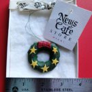 News Cafe Store CHRISTMAS WREATH Christmas Tree Ornament ORIGINAL NWT