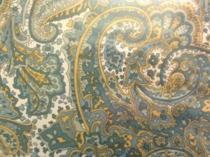 Ralph Lauren NORTHLAKE PAISLEY Green QUEEN FLAT Sheet