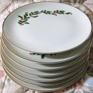 All The Trimmings CHRISTMAS HOLLY & Berries SET of 2 Dinner Plates NEW