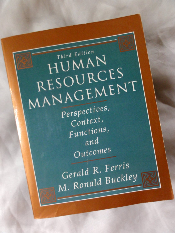 Human Resources Management, Ferris & M. Ronald Buckley