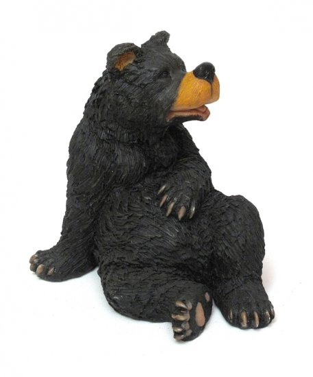 SITTING BLACK BEAR FIGURINE- DISCOUNT GIFTS ONLINE
