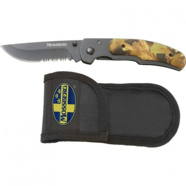 Mossberg Camo Liner Lock Knife Assisted Opening SKMOCAM-BNF