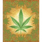 Sacred Herb Marijuana Luxury Blanket
