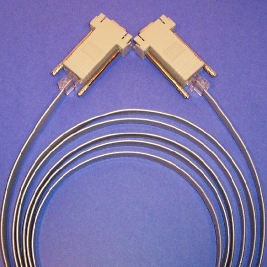 Combo 2 Cisco RJ45-DB9 Adapters and 1 Cable 8ft  Rollover.