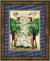 Childrens Ten Commandments  Handmade Christian Calligraphy