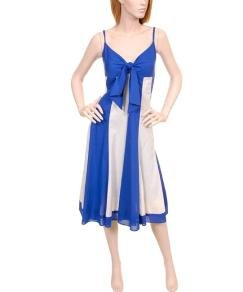 Blue/Ivory colored Dress