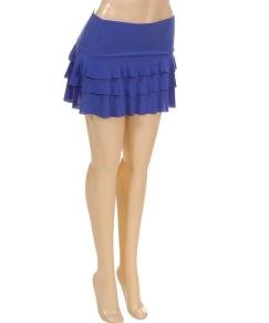 Blue Layered Miniskirt