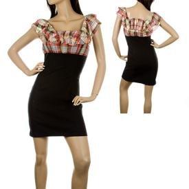 Plaid colored dress