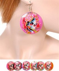 Tatto skull earrings