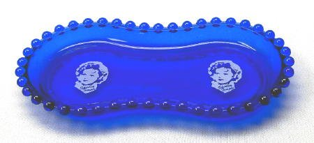 Shirley Temple Logo Dresser or Pin Tray in Cobalt Blue