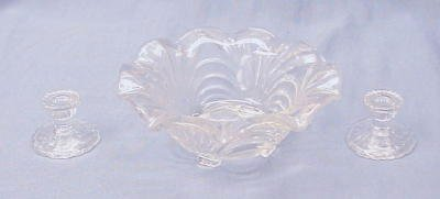 Child's Fruit Bowl w/Candleholders Caprice in Crystal