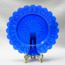 Child's ABC Plate in Cobalt Blue Higbee by Mosser