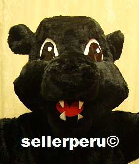 """PANTHER DELUXE ADULT COSTUME MASCOT up 5' 9"""""""