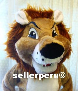 NEW LION DELUXE ADULT COSTUME  MASCOT up 5' 9""