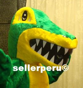 NEW ADULT CROCODILE COSTUME DELUXE MASCOT up 5' 9""