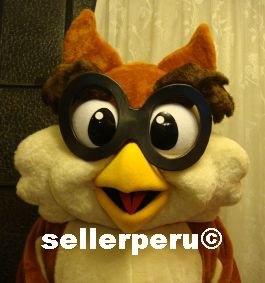 """NEW OWL ADULT COSTUME DELUXE MASCOT up 5' 9"""""""
