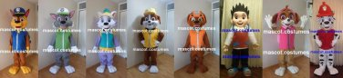 New. 8 Mascot Costume paw patrol police fire figure Character. SPECIAL PRICE
