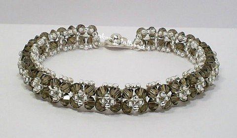 Smoky Quartz Swarovski Crystal Bracelet