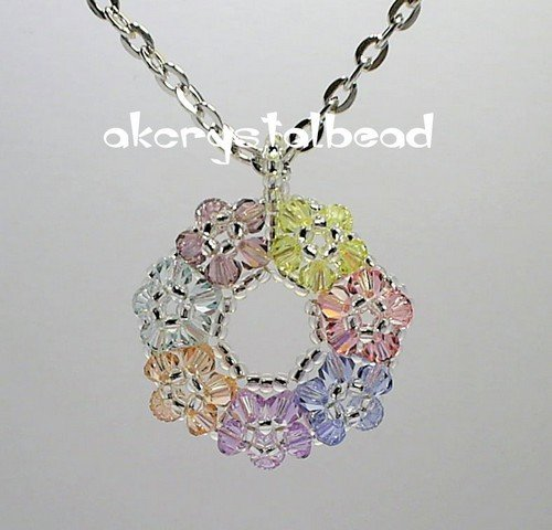 *Free Shipping* Swarovski Crystal sweet floral pendant necklace#12.1