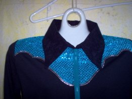 Black/Turquoise, Showmanship, Western Pleasure, Rail, Shirt