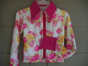 Hot Pink/Golden Yellow Roses, Western Pleasure, Rail, Showmanship, Shirt