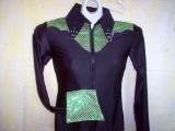 Black/Lime Green, Western Pleasure, Rail, Showmanship, Shirt
