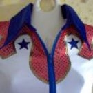 Red/White/Blue, Patriotic, Pageant, Show, Western, Rodeo, Drill Team, Barrel, Sequin  Shirt