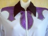 White/Purple, Pageant, Western Pleasure, Rail, Showmanship, Shirt