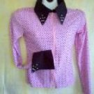 Pink W/ Black Dots ,Showmanship,Western Pleasure,Rail,Shirt