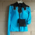 Turquoise/Black Western Pleasure,Rail,Showmanship, Shirt