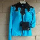 Turquoise/Black Western Pleasure,Rail,Showmanship, Shirt
