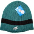Philadelphia Eagles Black Stripe Ribbed Beanies
