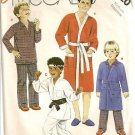 McCall's Sewing Pattern P920 Robe Karate Pajamas Boy Medium PJ Costume Bed Sleep