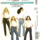 McCall's Sewing Pattern 5894 Perfect Jean Straight Boot Below Waist Uncut 18-24