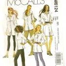 McCall's Sewing Pattern 6124 Womens Big Shirt Men Style 18-24 Uncut