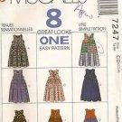 McCall's Sewing Pattern 7247 Jumper Dress Romper Detachable Collar Girls 2 3 4