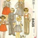 McCall's Sewing Pattern 8435 Dress Clothes Boy Girl Sz 3 Cap Ruffle Sleeve Vest