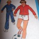Simplicity Pattern 8449 Vintage Boys Jog Suit Size 12 Short Pants Hood Jacket