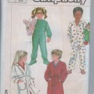 Simplicity Sewing Pattern 7199 Footed Sleeper PJ Robe Size 3 Sew Pajamas Child