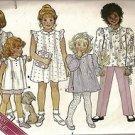 Butterick Sewing Pattern 3648 Girls Ruffle Cap Sleeve Dress Top Shorts Pants S 4