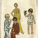 Butterick Sewing Pattern 5737 Boys Pajamas PJ's Long Short Size 2 Button Pocket