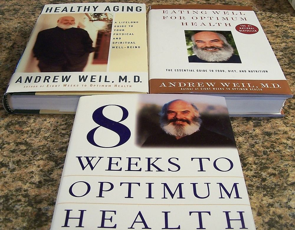 Lot of 3 Andrew Weil MD Books Aging Eating Well 8 Weeks to Health Natural HC DJ