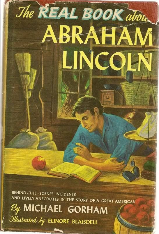 The Real Book About Abraham Lincoln 1951 HC DJ Vintage President