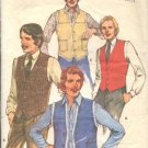 Butterick Sewing Pattern 4005 Vest Shearling Lined 38-42 Dress Vest Casual VTG