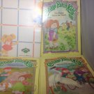 Cabbage Patch Kids 4 Hardcover Books DJ Vintage 1980's Shy Bike Friends Family