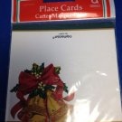 Christmas Dinner Place Cards 10 in New Package Bells Red Bow Table Buffet Tags